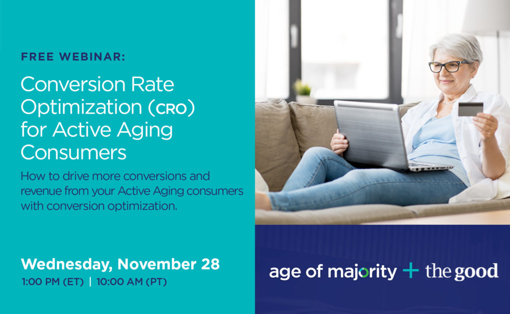 Webinar: Getting it On- and Offline with Active Aging Consumers