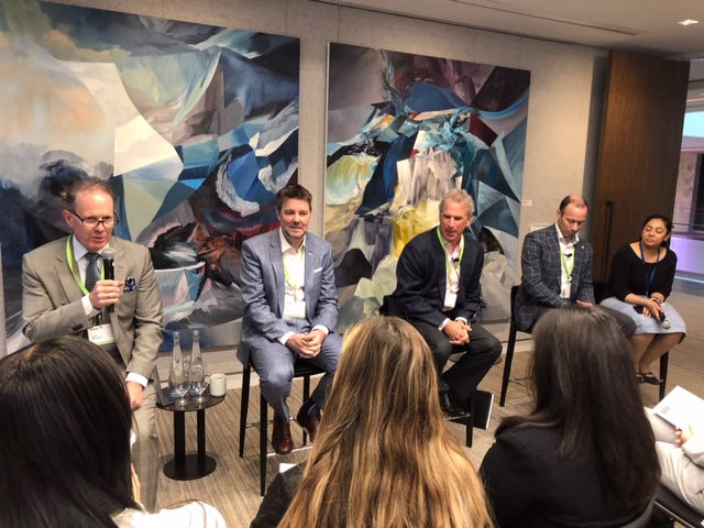Jeff Weiss, a panel member at the Retail & Consumer Products Alumni Speaker Series hosted at Deloitte as part of Global Ivey Day on May 1, 2019.